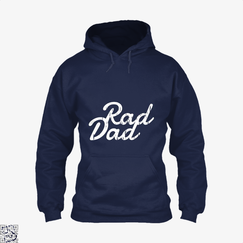 Rad Dad Fathers Day Hoodie - Blue / X-Small - Productgenapi