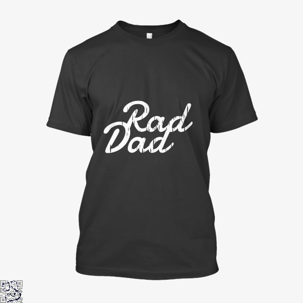 Rad Dad Fathers Day Shirt - Men / Black / X-Small - Productgenapi