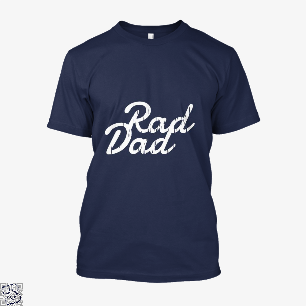 Rad Dad Fathers Day Shirt - Men / Blue / X-Small - Productgenapi