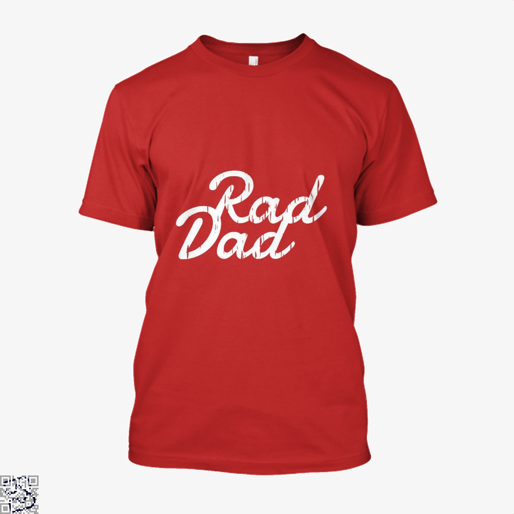 Rad Dad Fathers Day Shirt - Men / Red / X-Small - Productgenapi