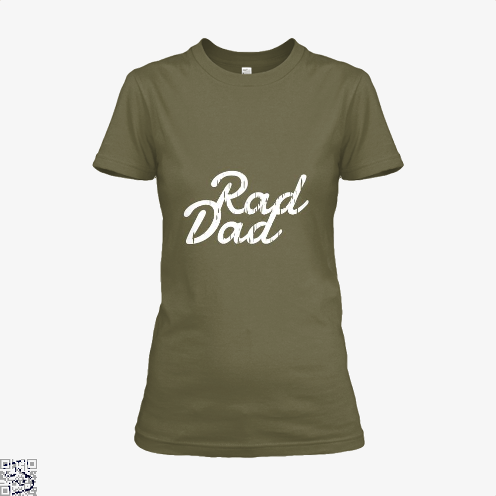 Rad Dad Fathers Day Shirt - Women / Brown / X-Small - Productgenapi