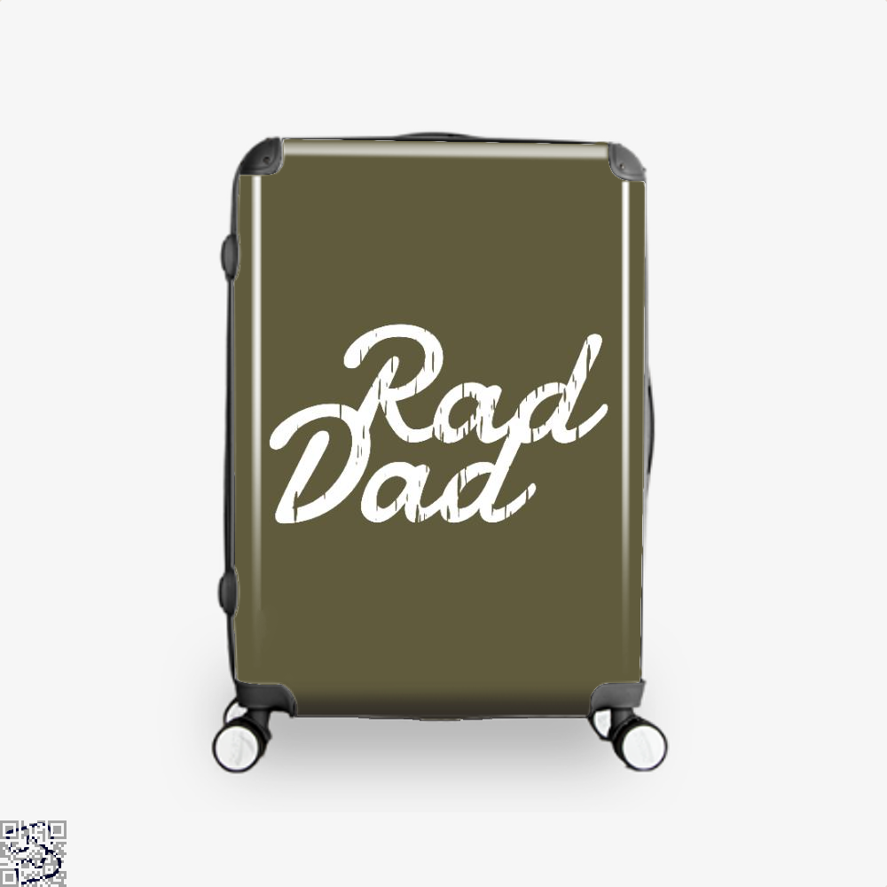Rad Dad Fathers Day Suitcase - Brown / 16 - Productgenapi