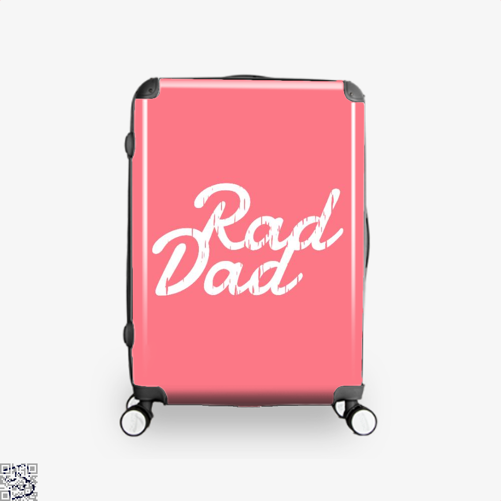 Rad Dad Fathers Day Suitcase - Pink / 16 - Productgenapi