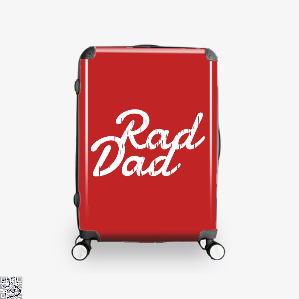 Rad Dad Fathers Day Suitcase - Red / 16 - Productgenapi