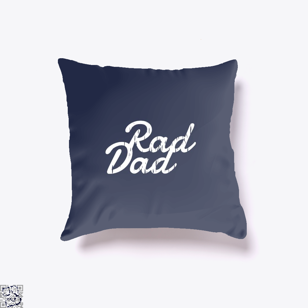Rad Dad Fathers Day Throw Pillow Cover - Blue / 16 X - Productgenapi