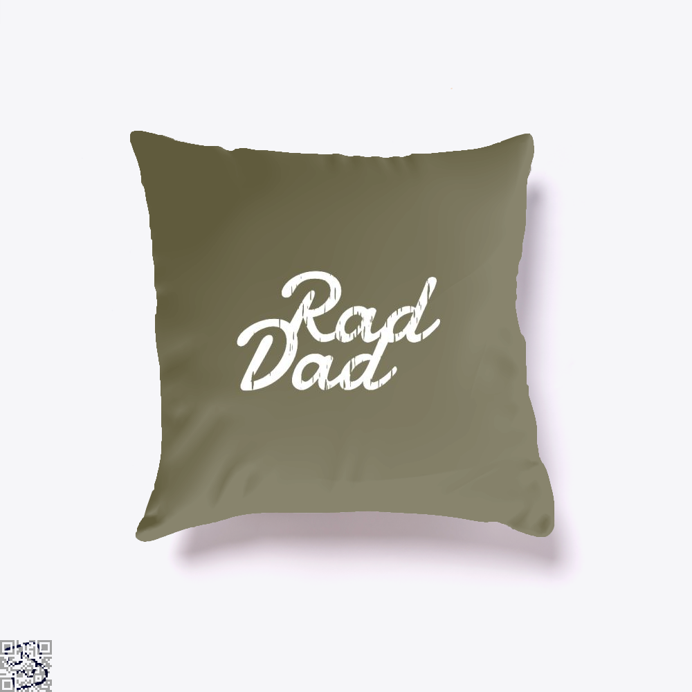 Rad Dad Fathers Day Throw Pillow Cover - Brown / 16 X - Productgenapi