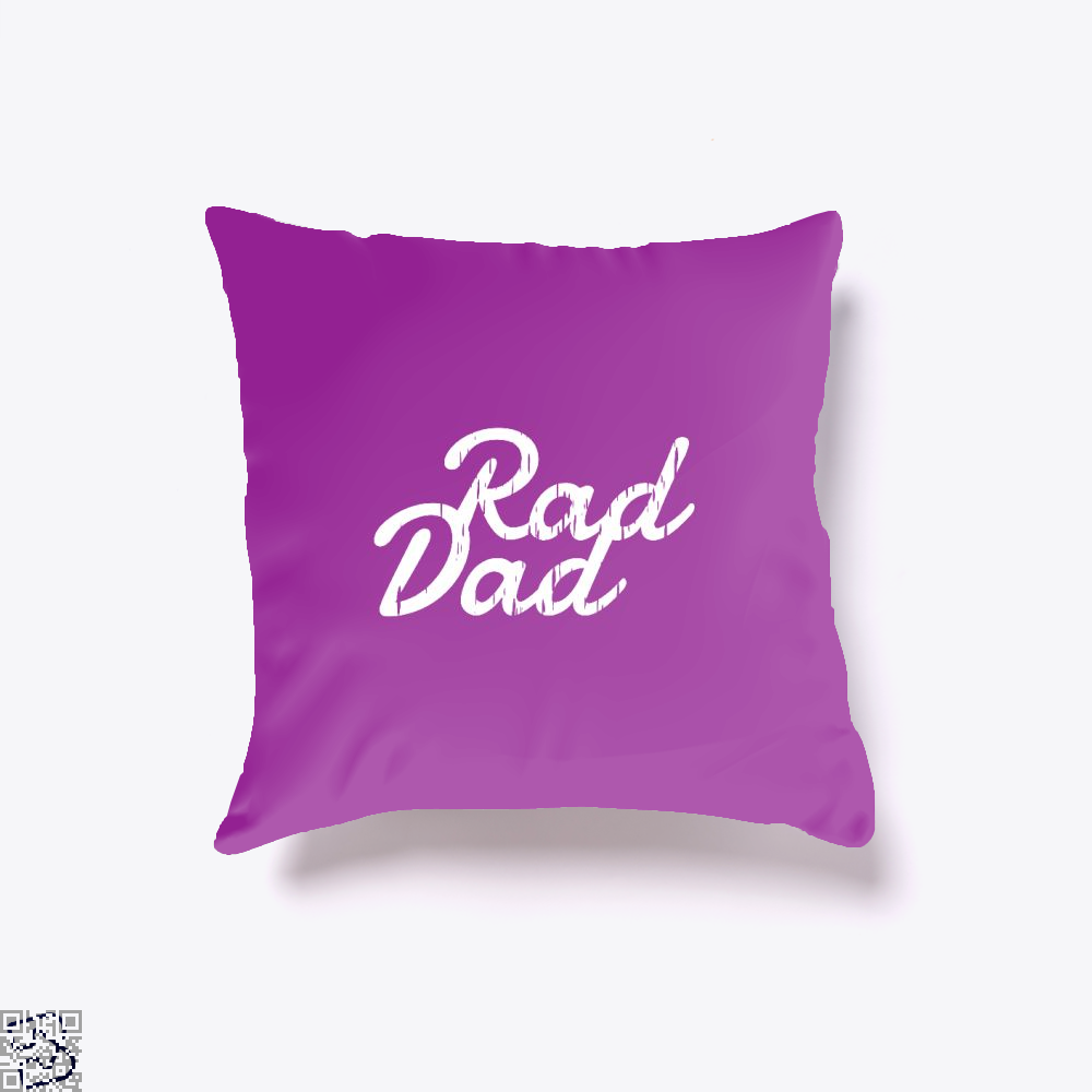 Rad Dad Fathers Day Throw Pillow Cover - Purple / 16 X - Productgenapi