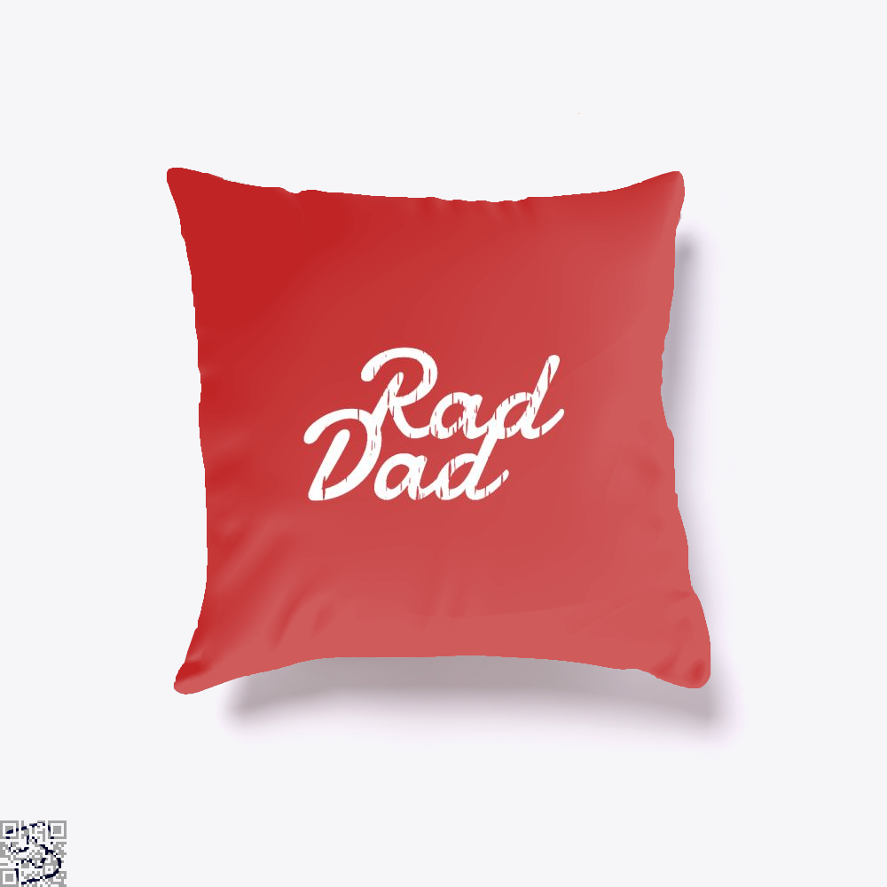 Rad Dad Fathers Day Throw Pillow Cover - Red / 16 X - Productgenapi