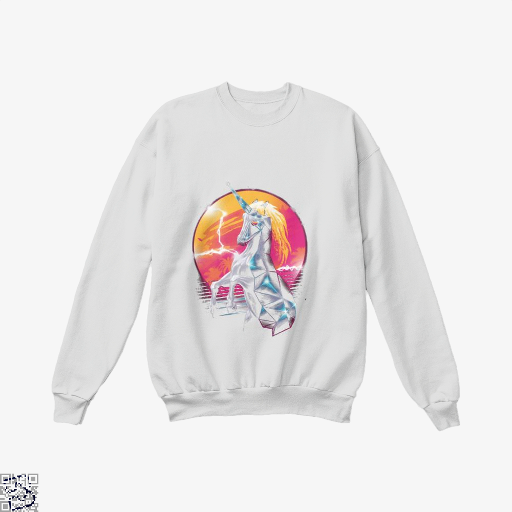 Rad Unicorn Horse Crew Neck Sweatshirt - White / X-Small - Productgenjpg