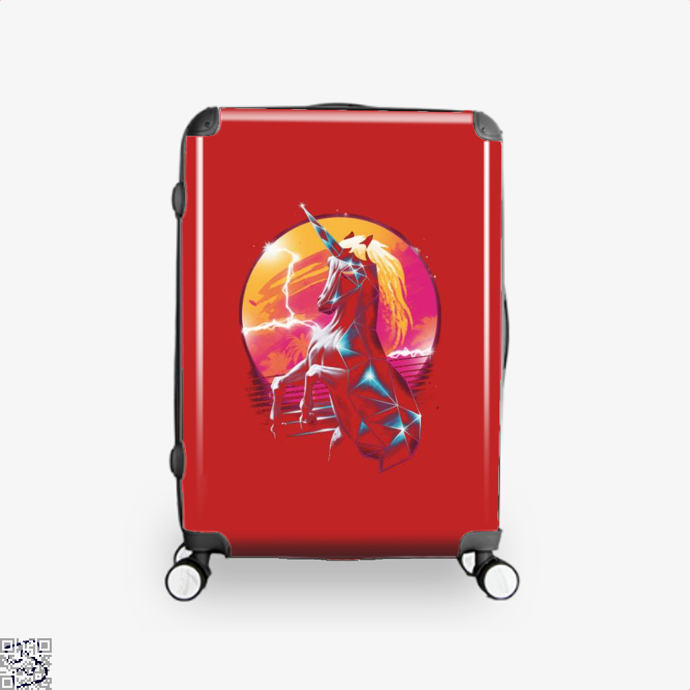 Rad Unicorn Horse Suitcase - Red / 16 - Productgenjpg