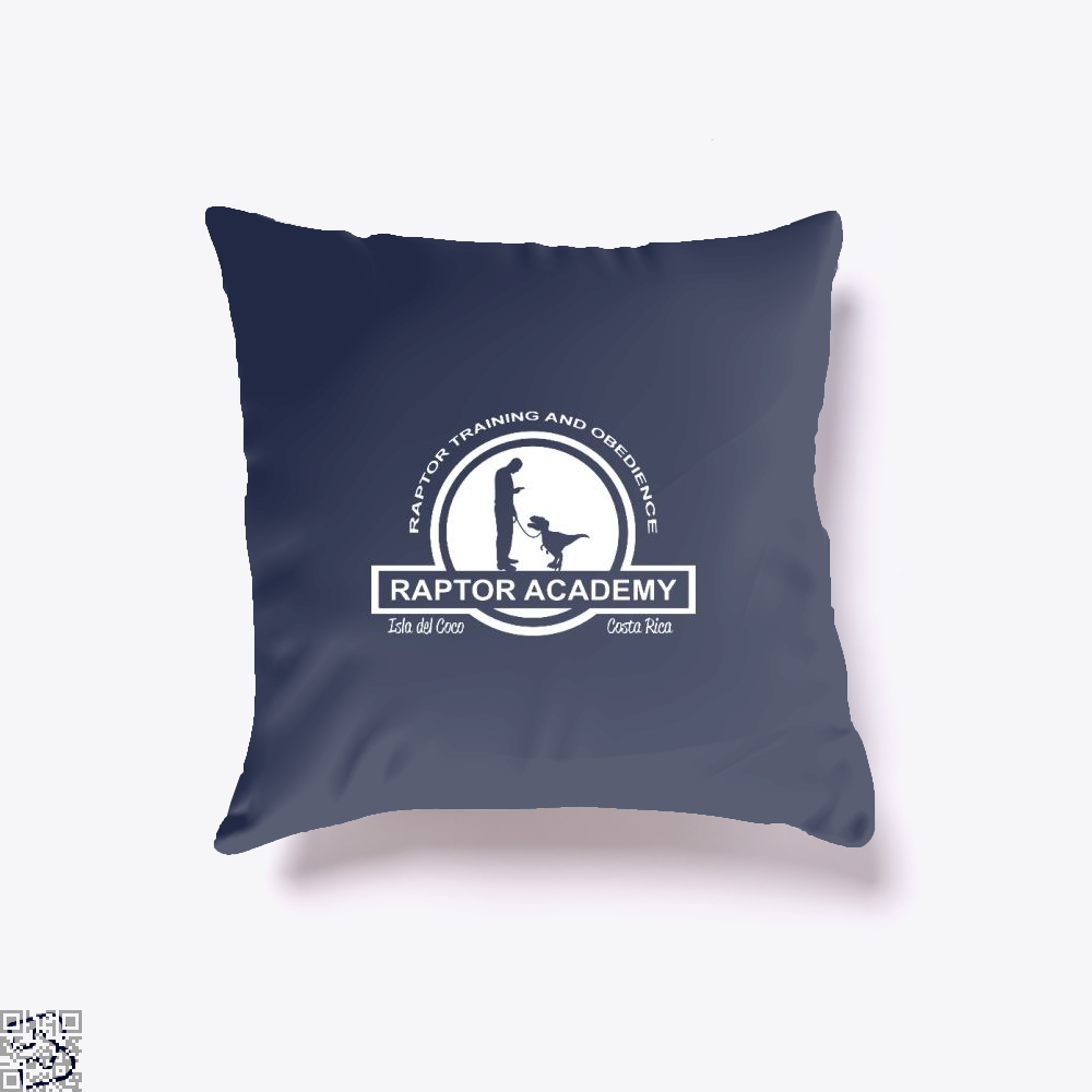 Raptor Academy Velociraptor Training And Obedience School Jurassic World Throw Pillow Cover - Blue / 16 X - Productgenapi