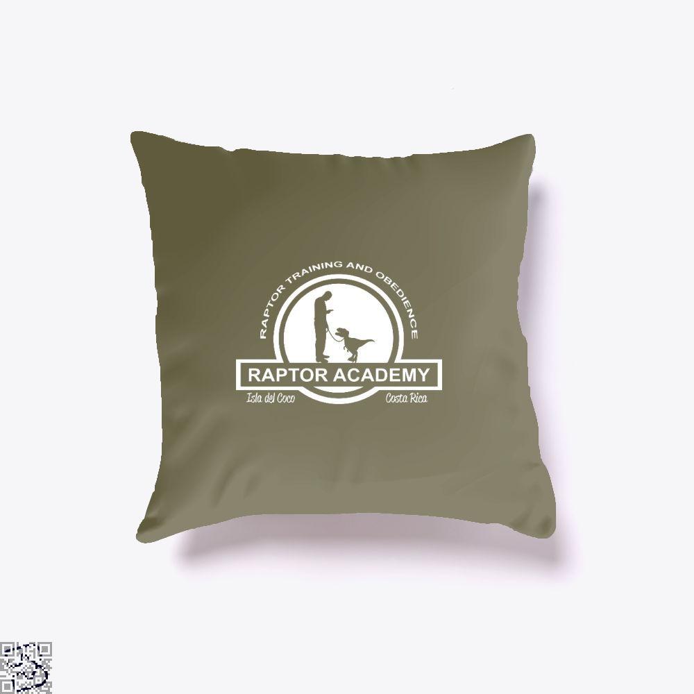 Raptor Academy Velociraptor Training And Obedience School Jurassic World Throw Pillow Cover - Brown / 16 X - Productgenapi
