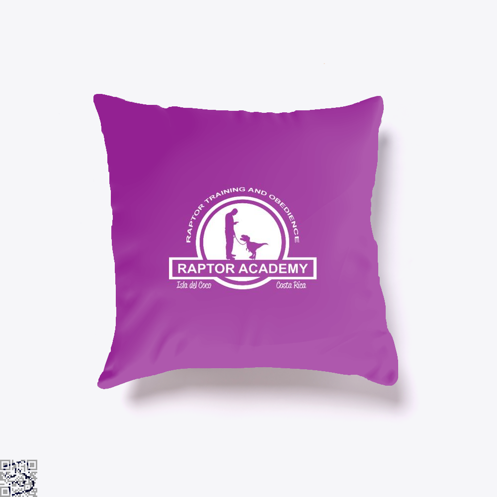 Raptor Academy Velociraptor Training And Obedience School Jurassic World Throw Pillow Cover - Purple / 16 X - Productgenapi