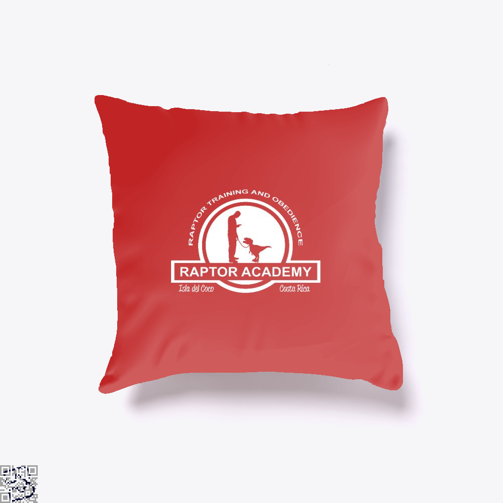 Raptor Academy Velociraptor Training And Obedience School Jurassic World Throw Pillow Cover - Red / 16 X - Productgenapi
