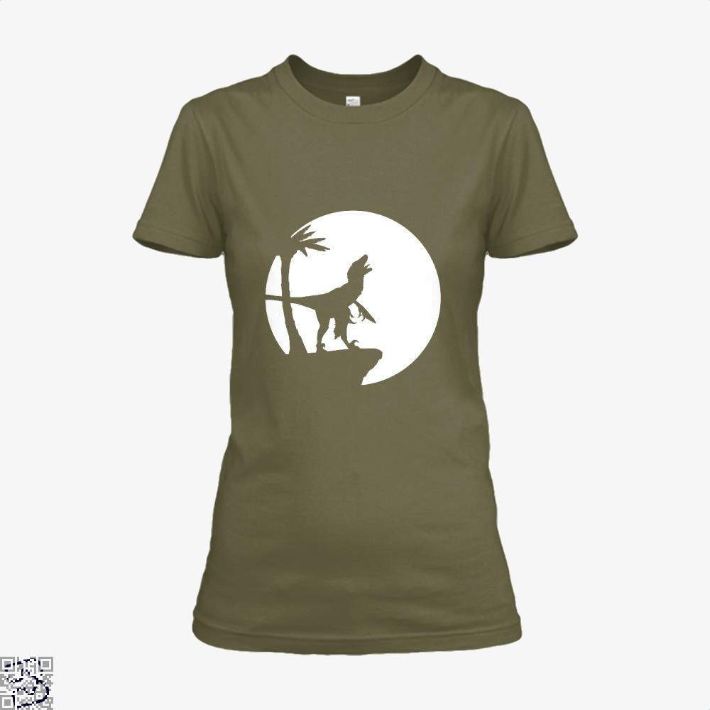 Raptor Moon Feathered Jurassic World Shirt - Women / Brown / X-Small - Productgenapi