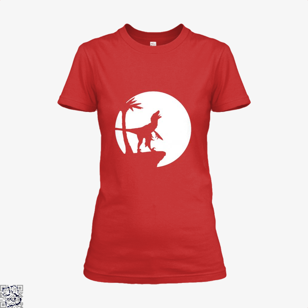 Raptor Moon Feathered Jurassic World Shirt - Women / Red / X-Small - Productgenapi