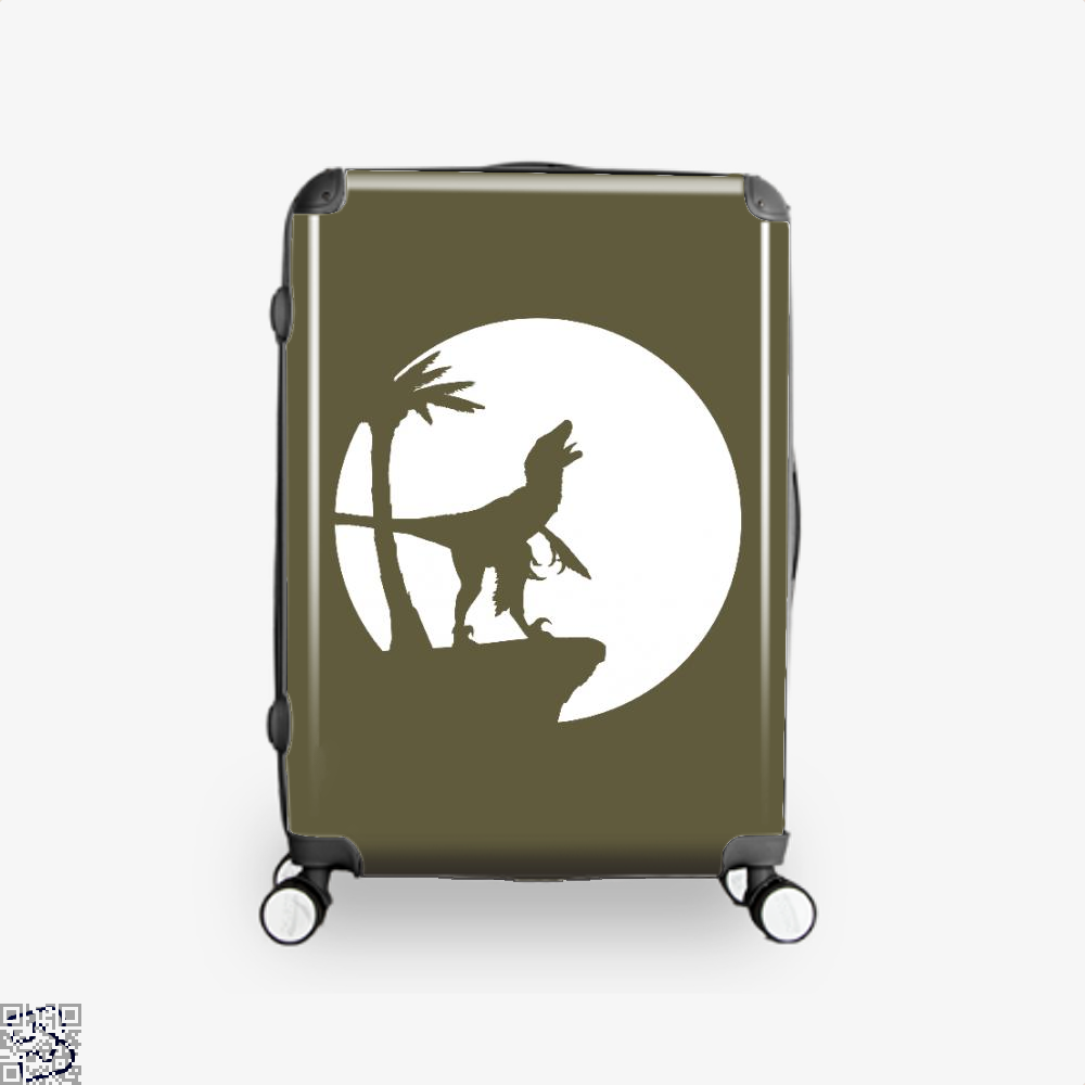 Raptor Moon Feathered Jurassic World Suitcase - Brown / 16 - Productgenapi