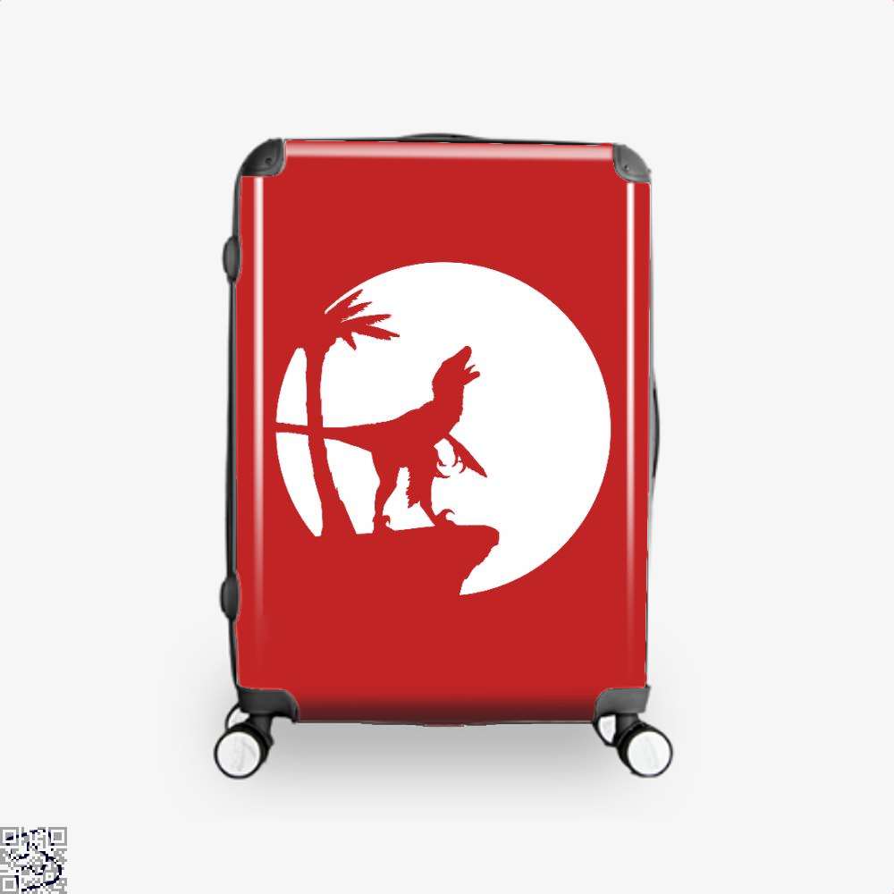 Raptor Moon Feathered Jurassic World Suitcase - Red / 16 - Productgenapi