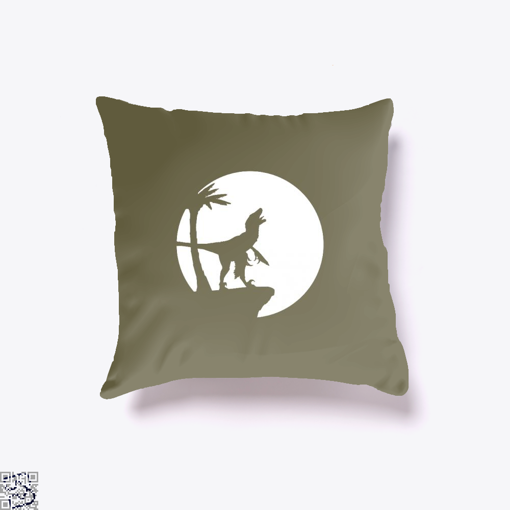 Raptor Moon Feathered Jurassic World Throw Pillow Cover - Brown / 16 X 16 - Productgenapi