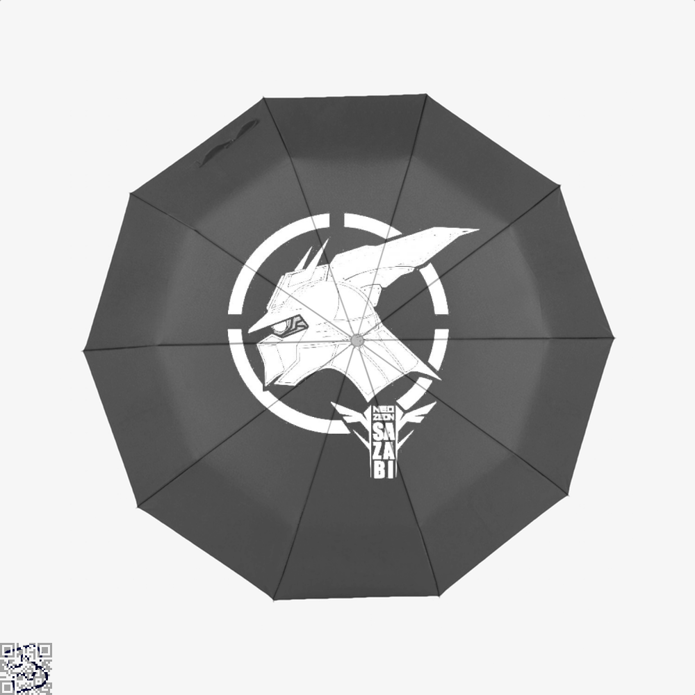 Red Gundam Umbrella - Black - Productgenjpg