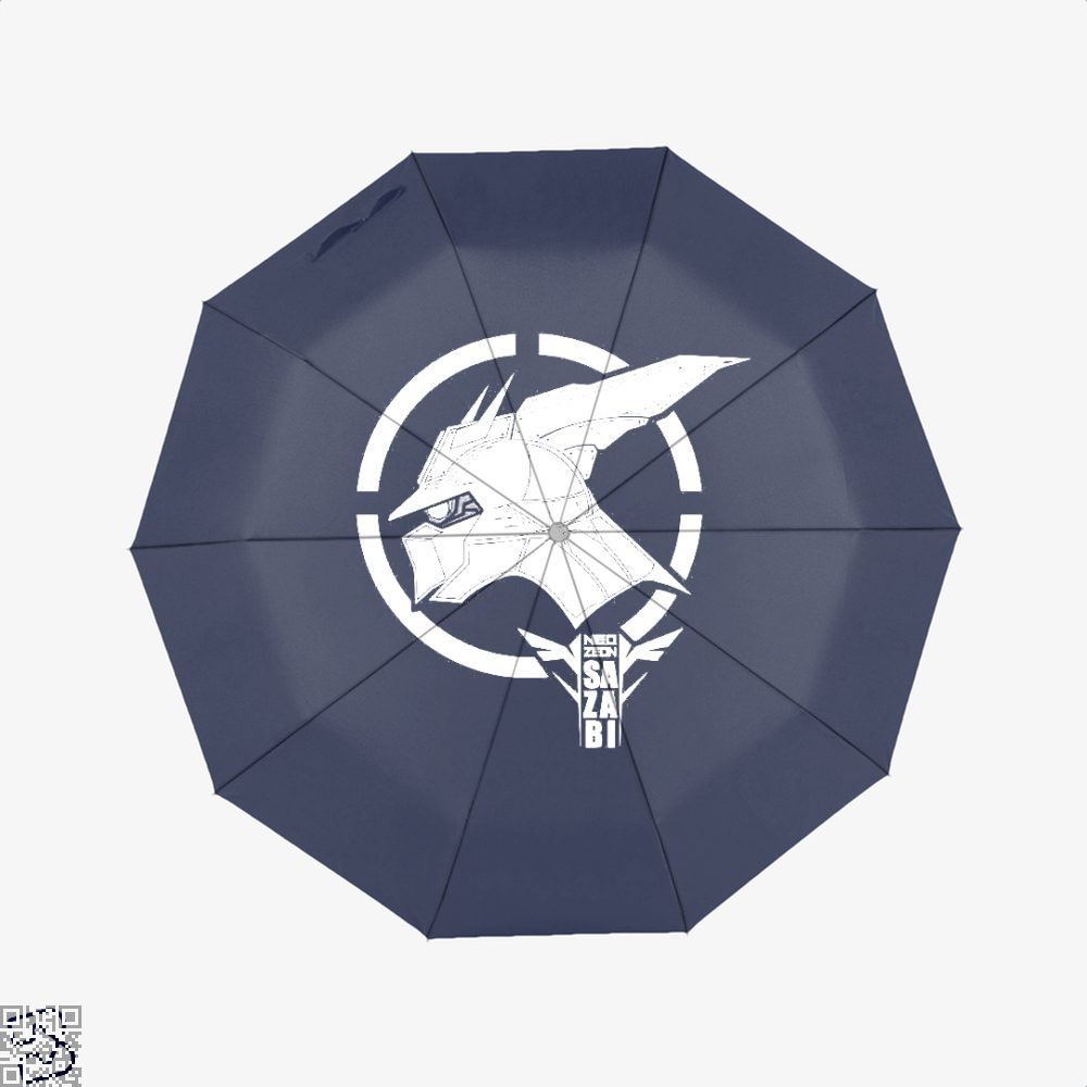 Red Gundam Umbrella - Blue - Productgenjpg