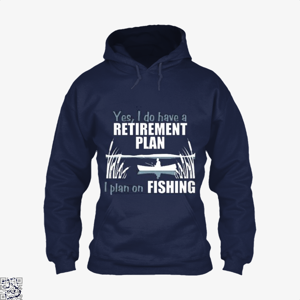 Retirement Plan Fishing Hoodie - Blue / X-Small - Productgenjpg