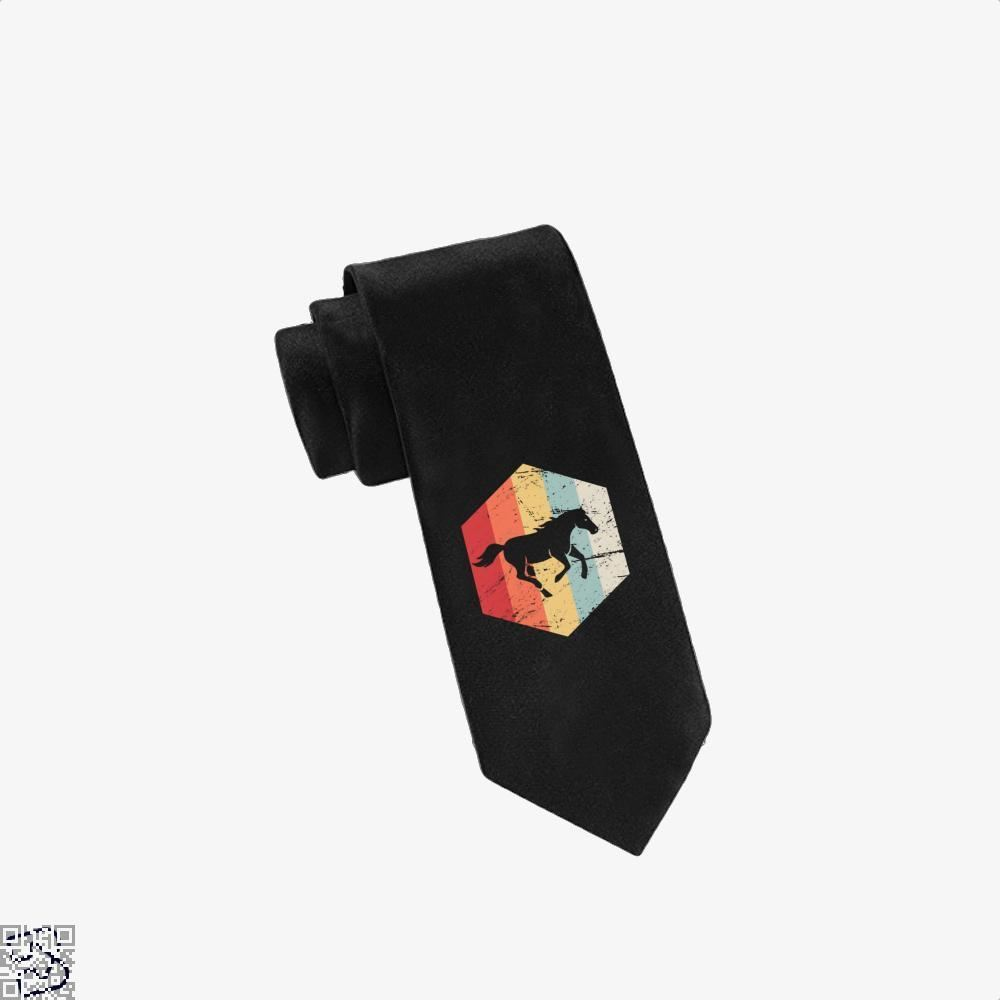Retro Horse Horseback Riding Icon Tie - Black - Productgenjpg
