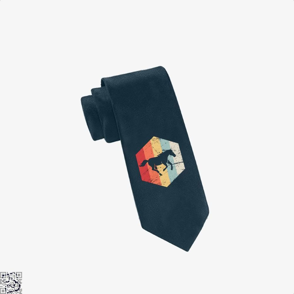 Retro Horse Horseback Riding Icon Tie - Navy - Productgenjpg