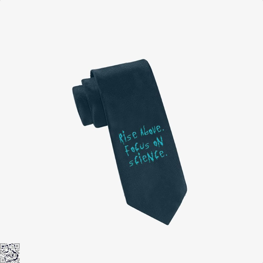 Rise Above Focus On Science Rick And Morty Tie - Navy - Productgenapi
