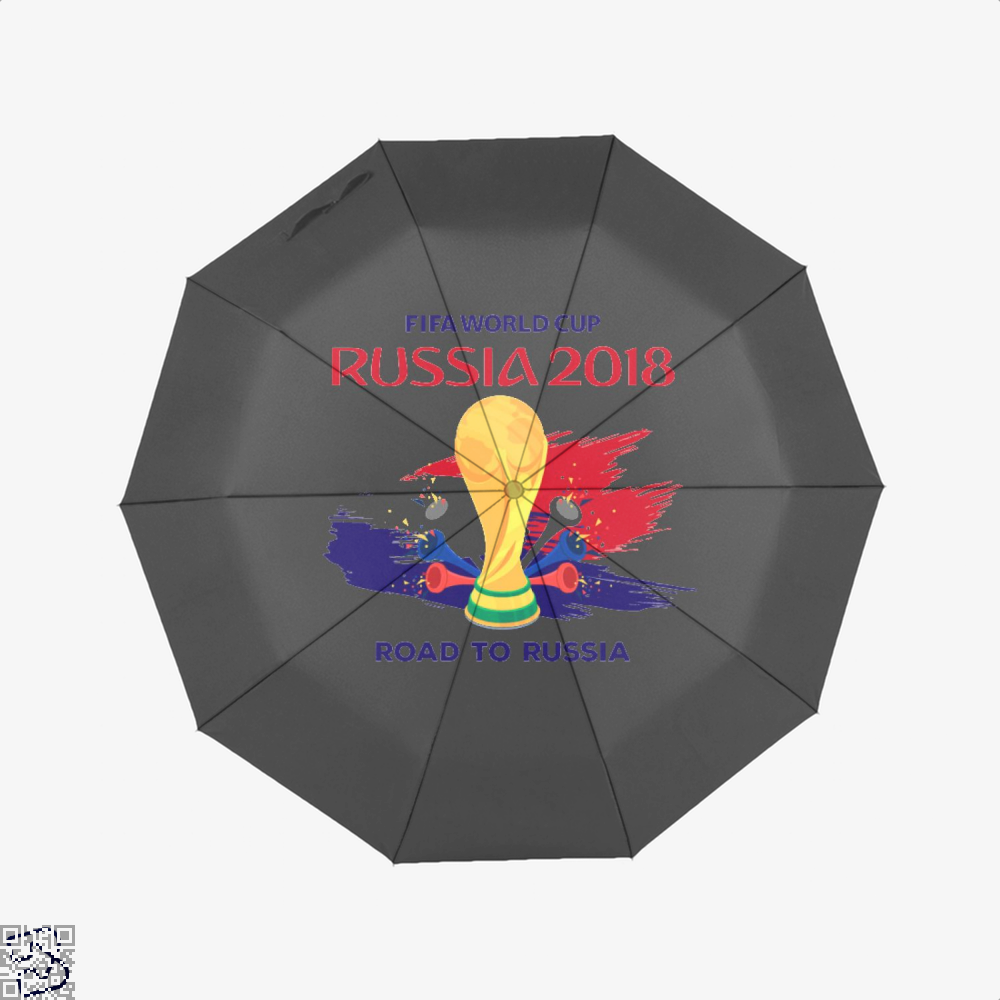 Road To Russia World Cup 2018 Fifa Umbrella - Black - Productgenapi