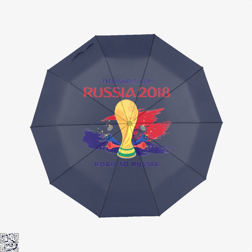 Road To Russia World Cup 2018 Fifa Umbrella - Blue - Productgenapi