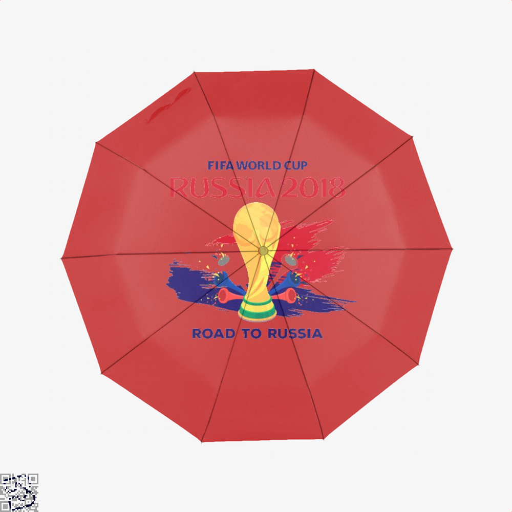 Road To Russia World Cup 2018 Fifa Umbrella - Red - Productgenapi