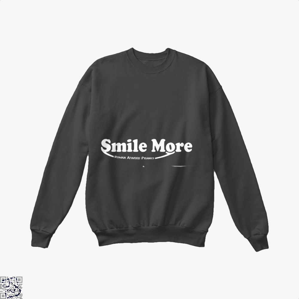 S-Mi-Le Mo-Re Roman Atwood Risque Crew Neck Sweatshirt - Black / X-Small - Productgenjpg