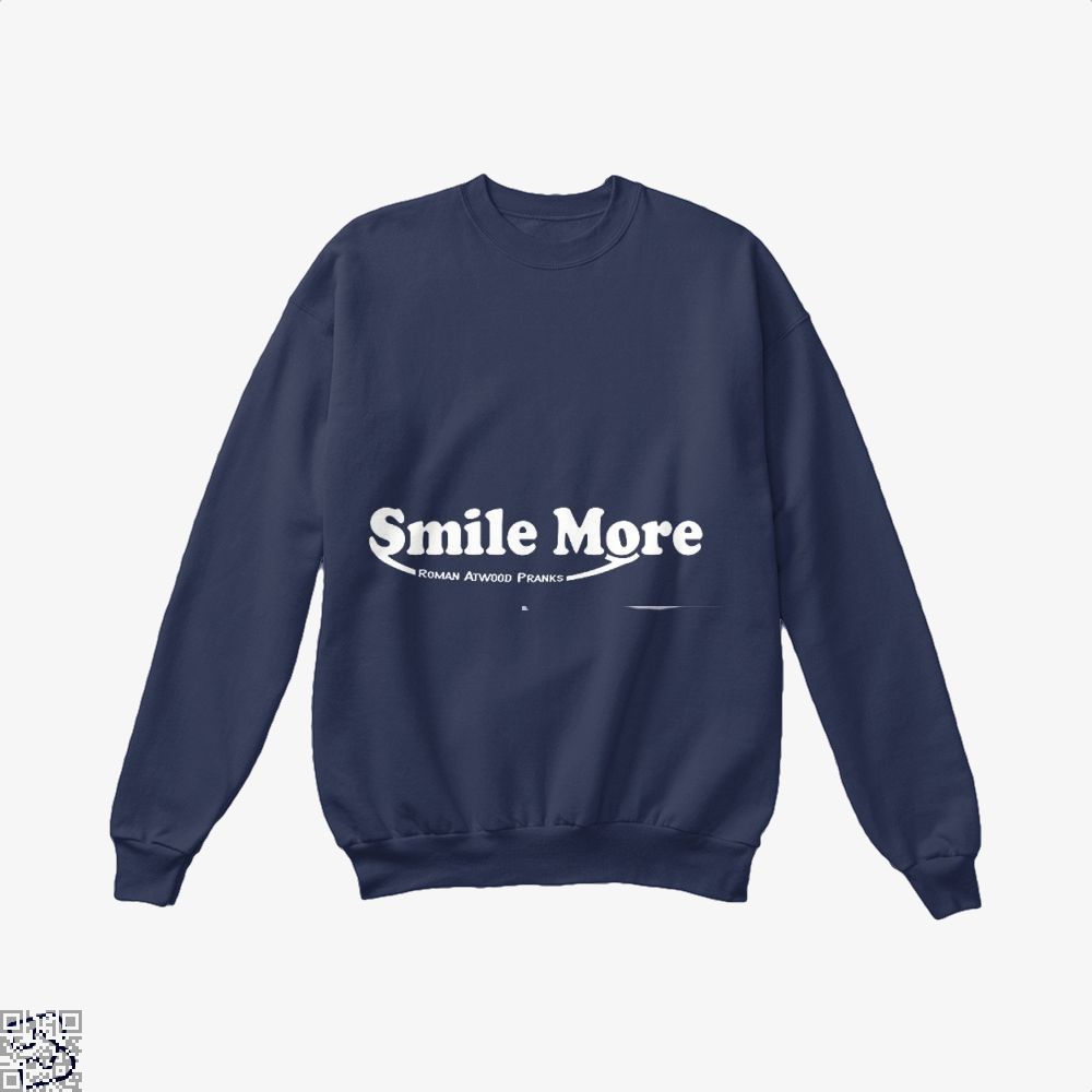 S-Mi-Le Mo-Re Roman Atwood Risque Crew Neck Sweatshirt - Blue / X-Small - Productgenjpg