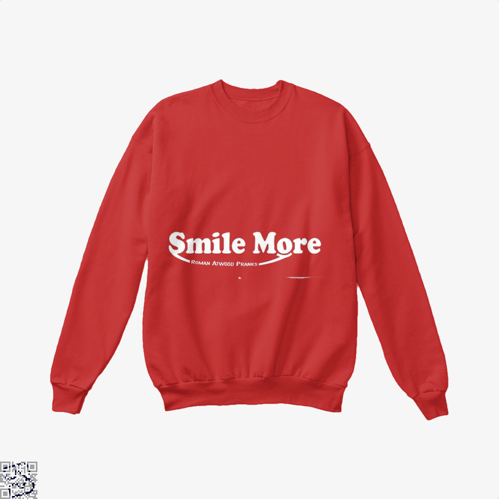 S-Mi-Le Mo-Re Roman Atwood Risque Crew Neck Sweatshirt - Red / X-Small - Productgenjpg