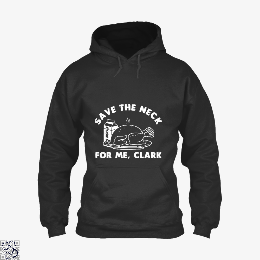 Save The Neck For Me Clark Droll Hoodie - Black / X-Small - Productgenjpg