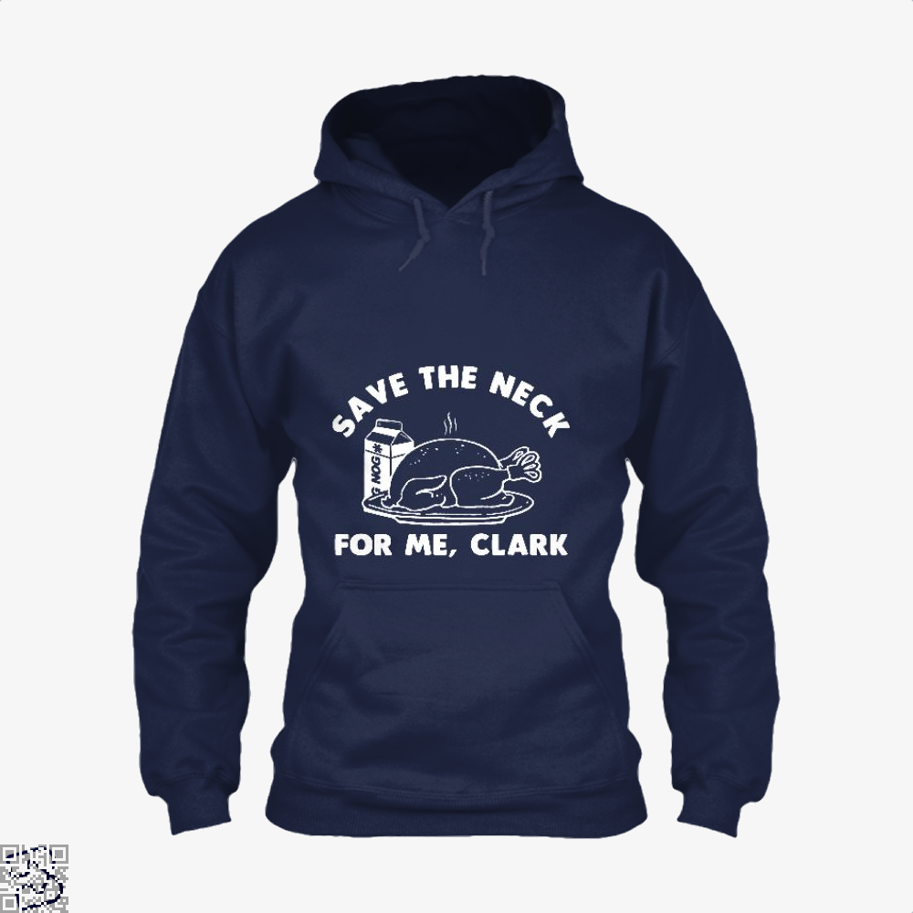 Save The Neck For Me Clark Droll Hoodie - Blue / X-Small - Productgenjpg