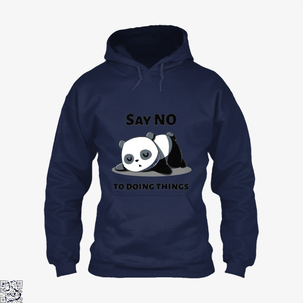Say No To Doing Things Panda Hoodie - Blue / X-Small - Productgenjpg