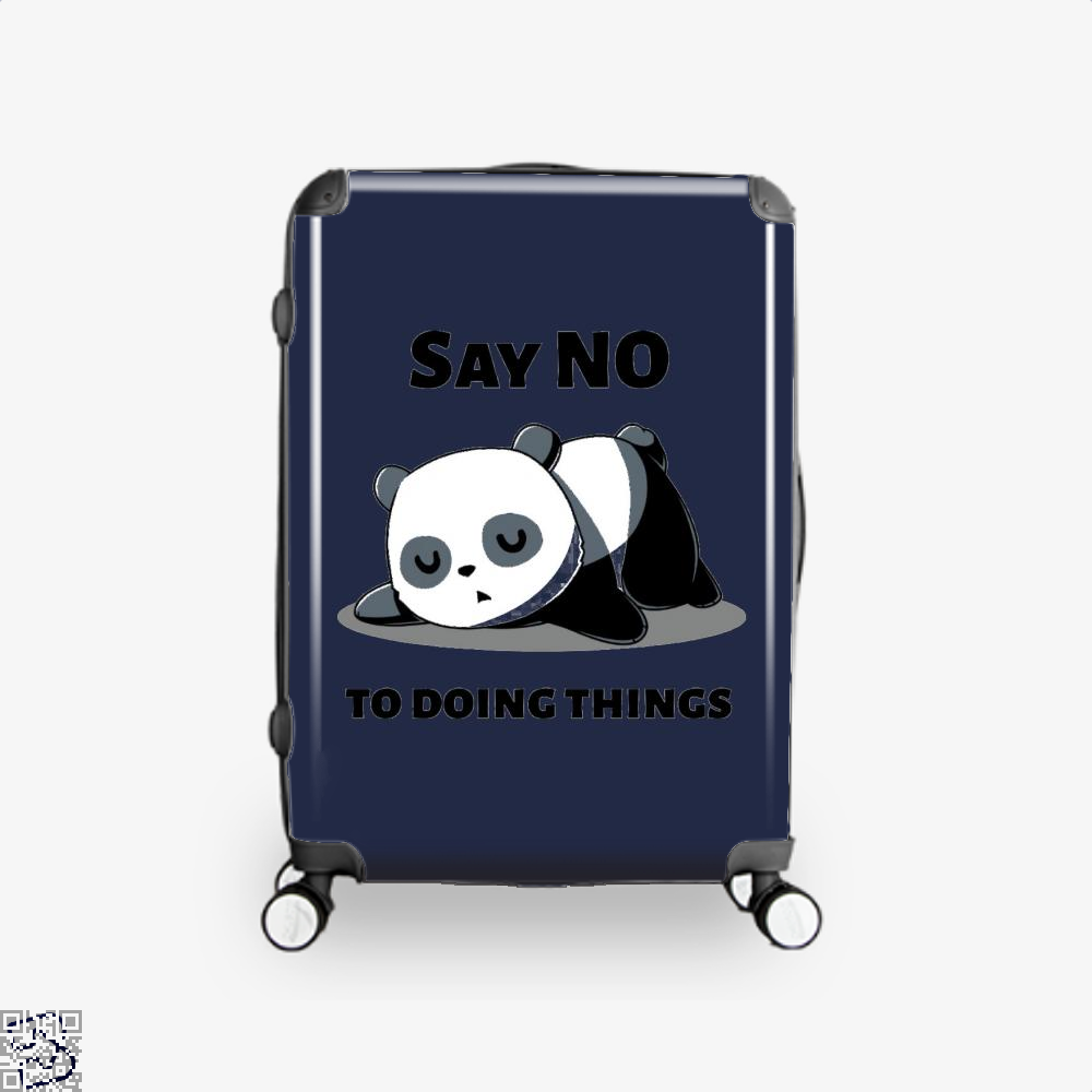 Say No To Doing Things Panda Suitcase - Blue / 16 - Productgenjpg