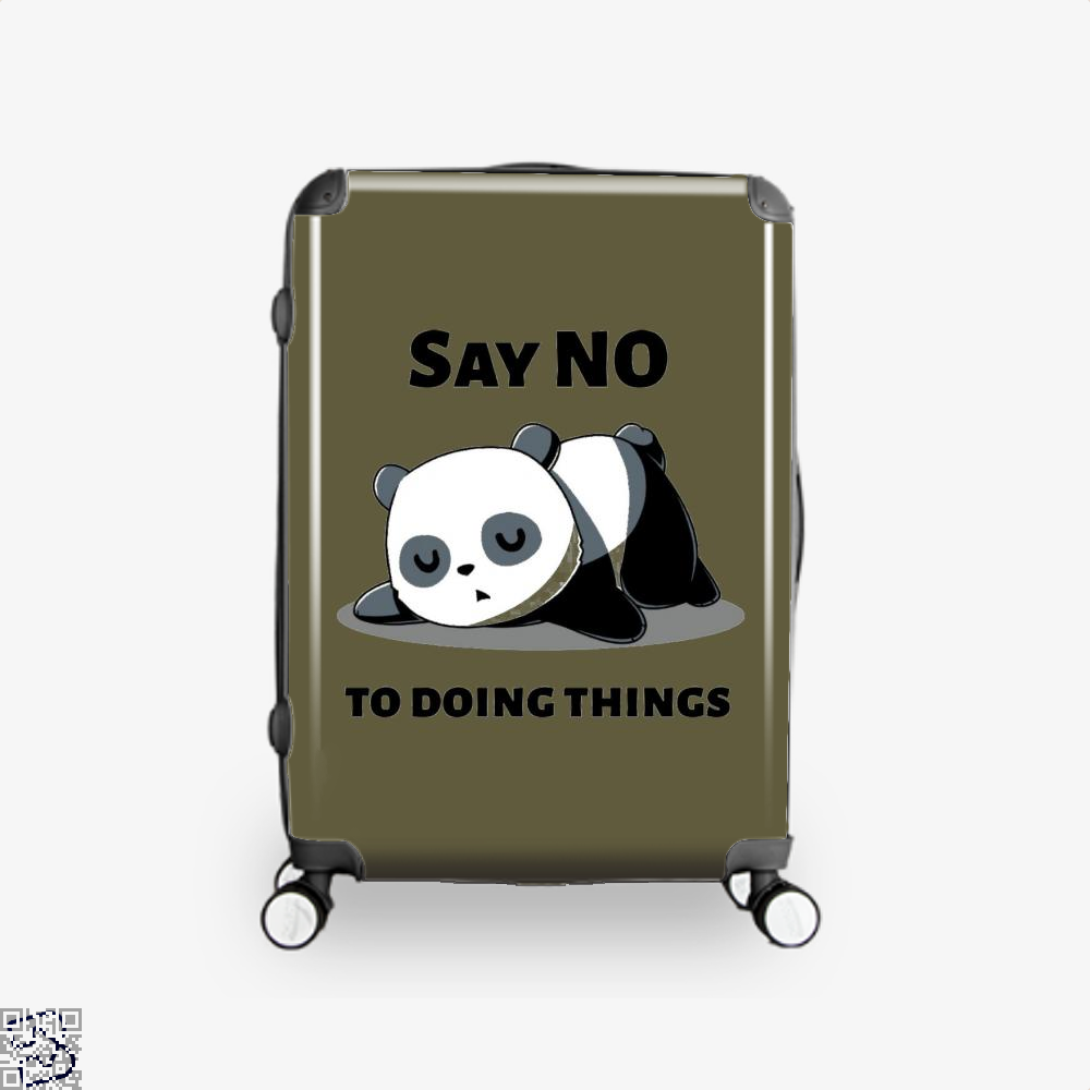 Say No To Doing Things Panda Suitcase - Brown / 16 - Productgenjpg