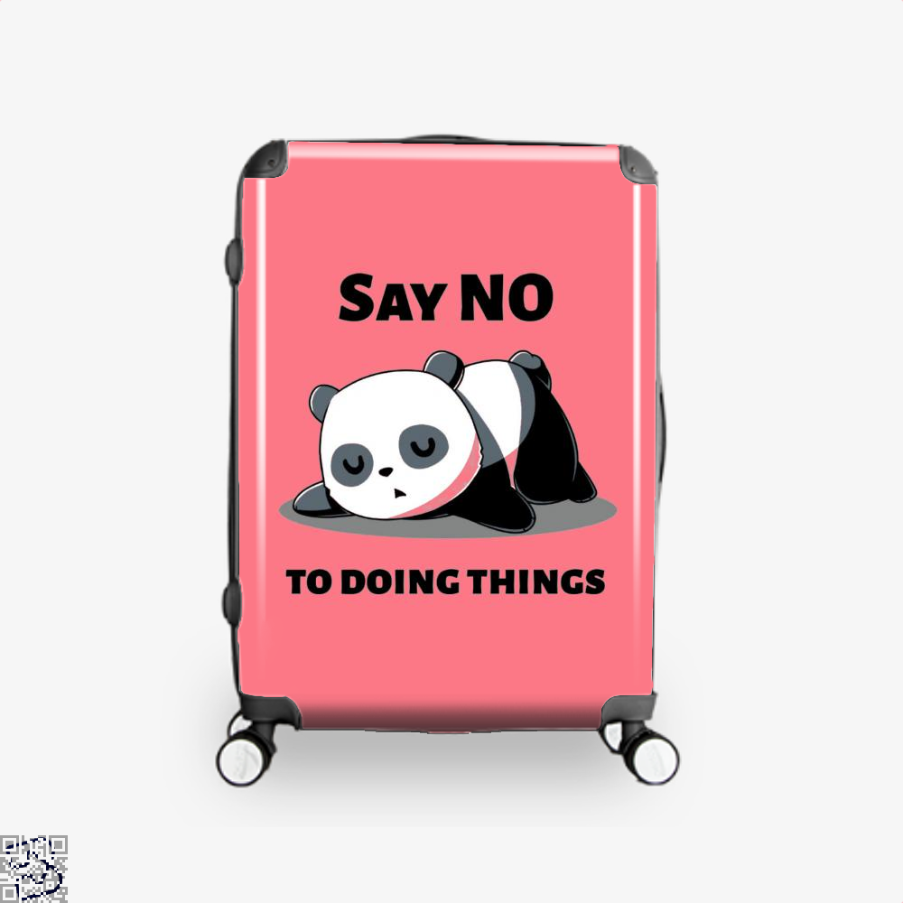 Say No To Doing Things Panda Suitcase - Pink / 16 - Productgenjpg