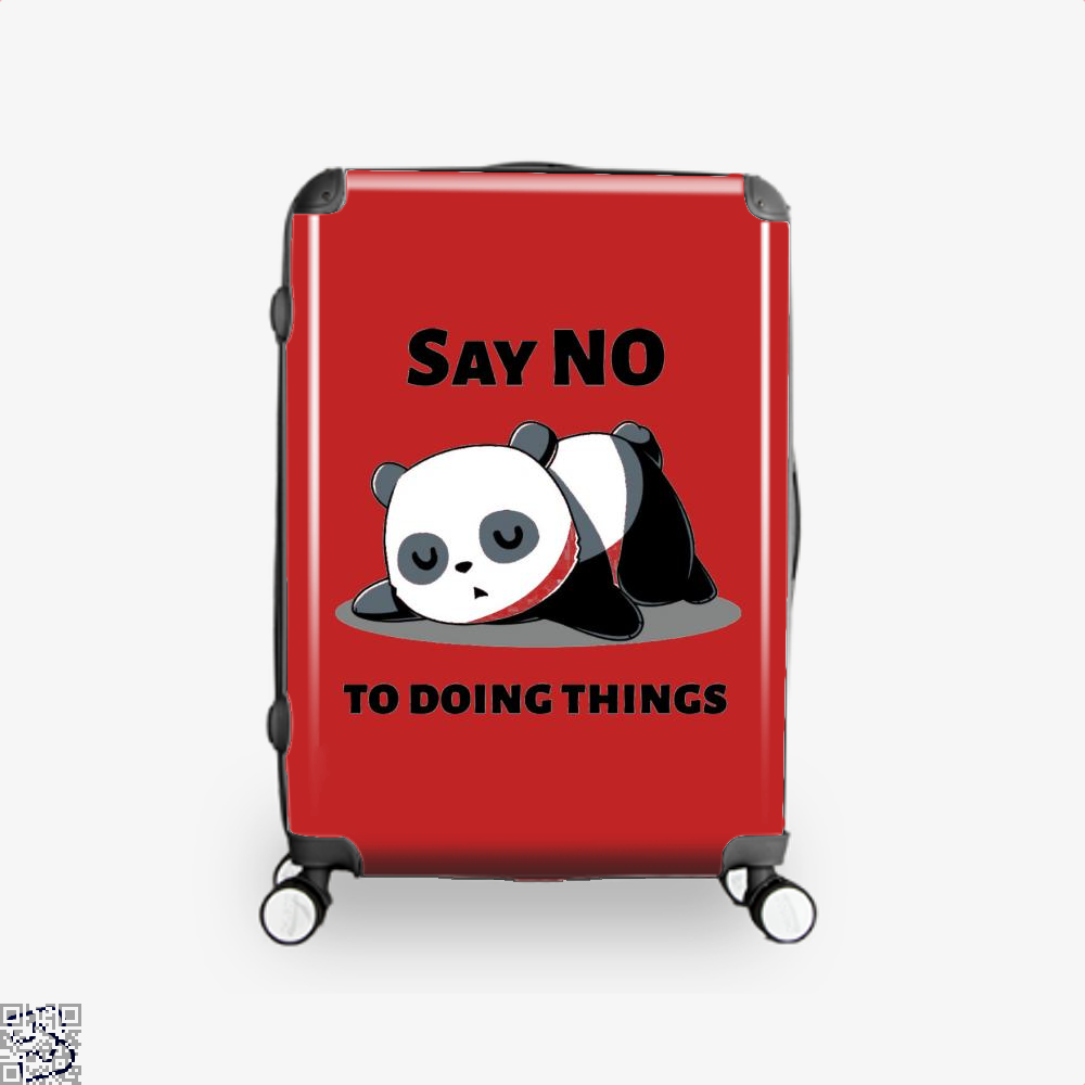 Say No To Doing Things Panda Suitcase - Red / 16 - Productgenjpg