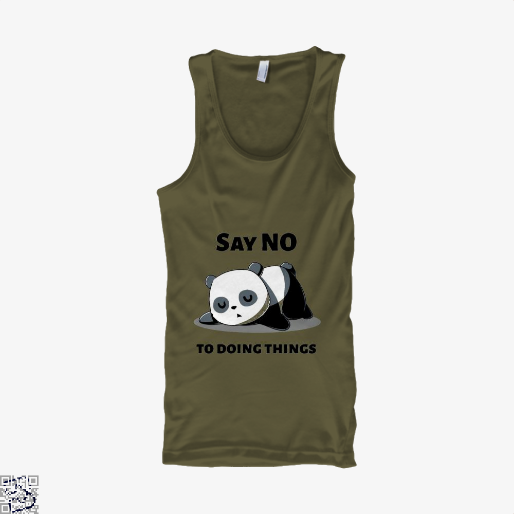 Say No To Doing Things Panda Tank Top - Men / Brown / X-Small - Productgenjpg