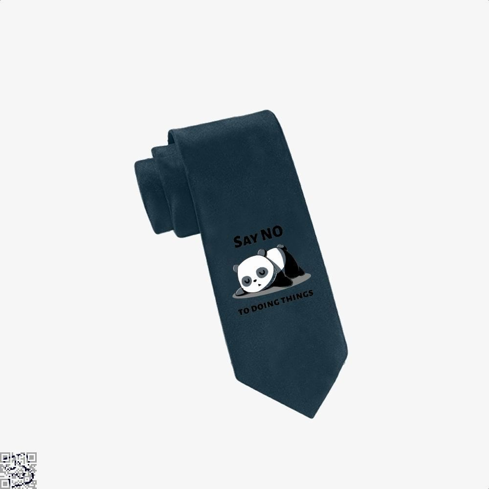 Say No To Doing Things Panda Tie - Navy - Productgenjpg