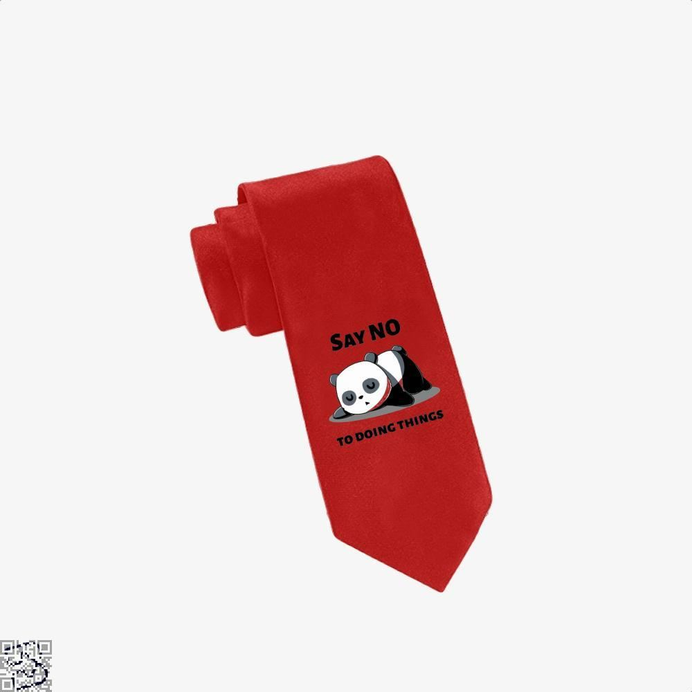 Say No To Doing Things Panda Tie - Red - Productgenjpg