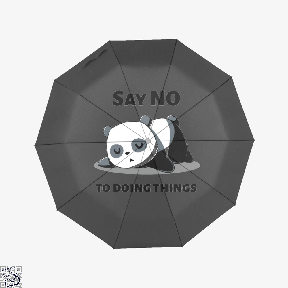 Say No To Doing Things Panda Umbrella - Black - Productgenjpg