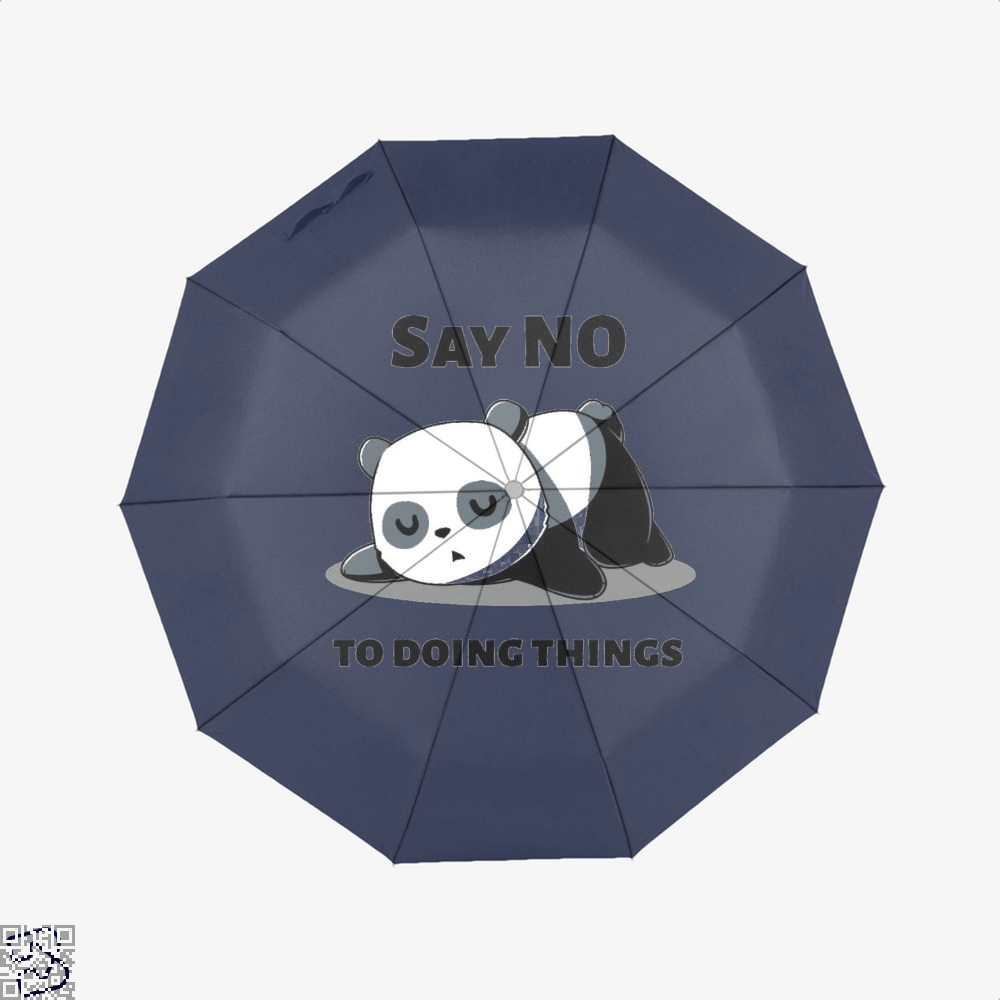 Say No To Doing Things Panda Umbrella - Blue - Productgenjpg