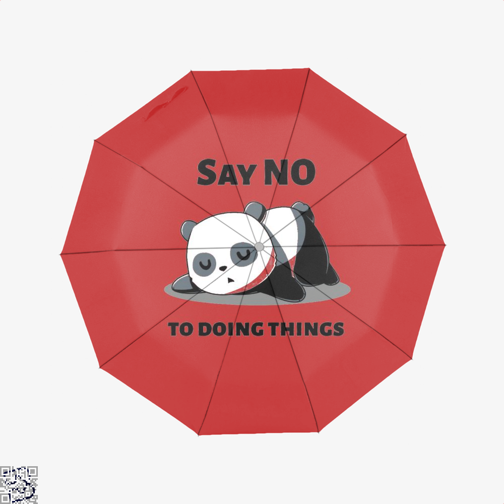 Say No To Doing Things Panda Umbrella - Red - Productgenjpg