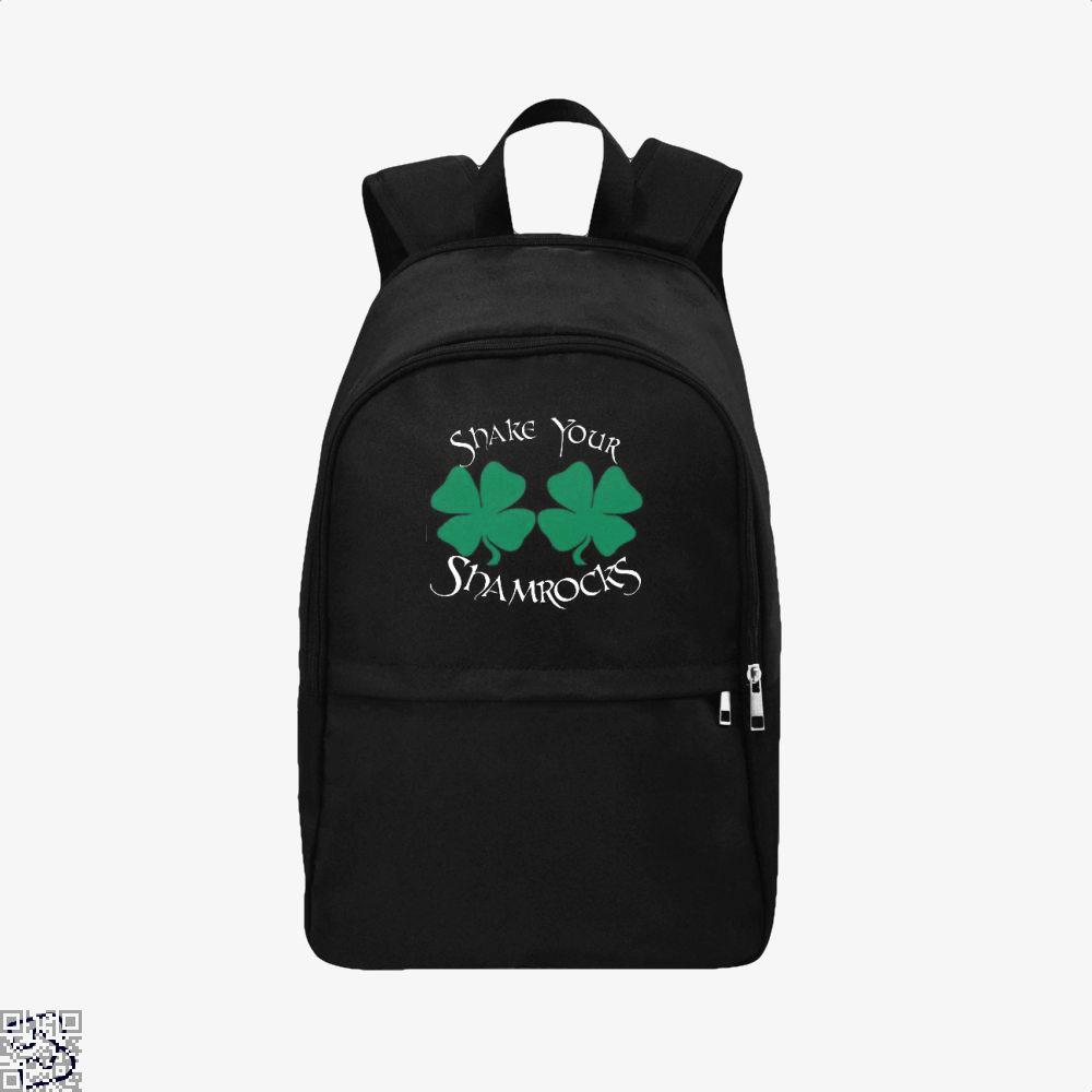 Shake Your Shamrocks Irish Clover Backpack - Black / Adult - Productgenjpg