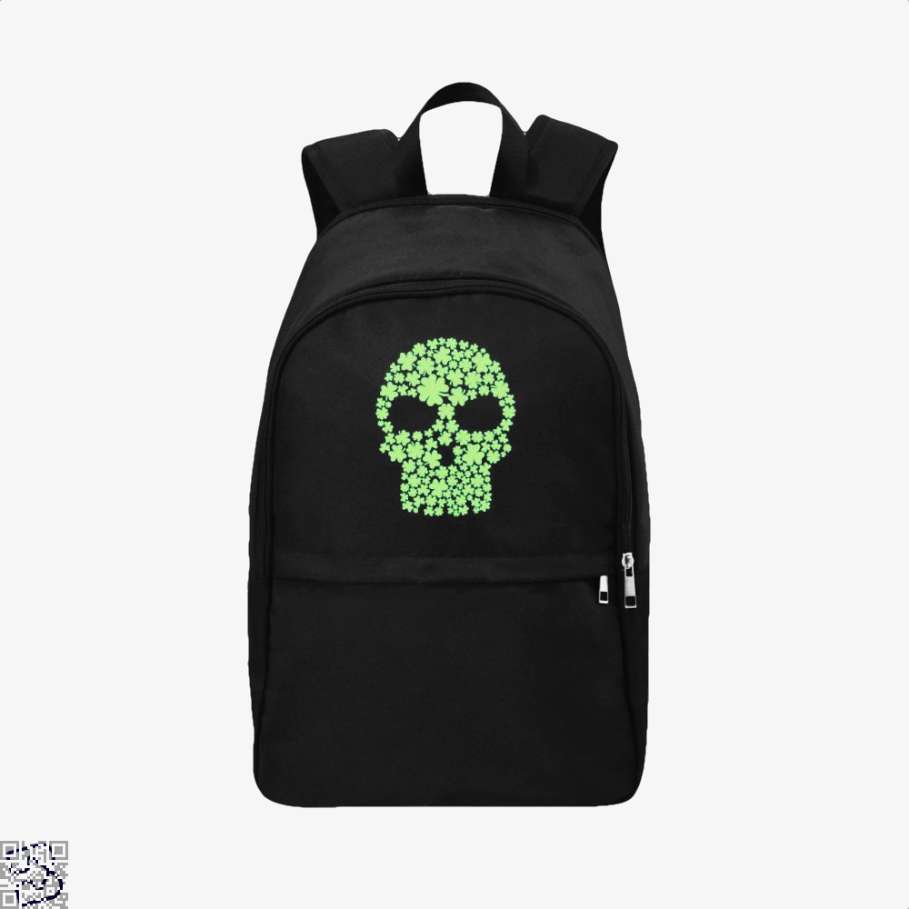 Shamrock Skull Irish Clover Backpack - Black / Adult - Productgenjpg